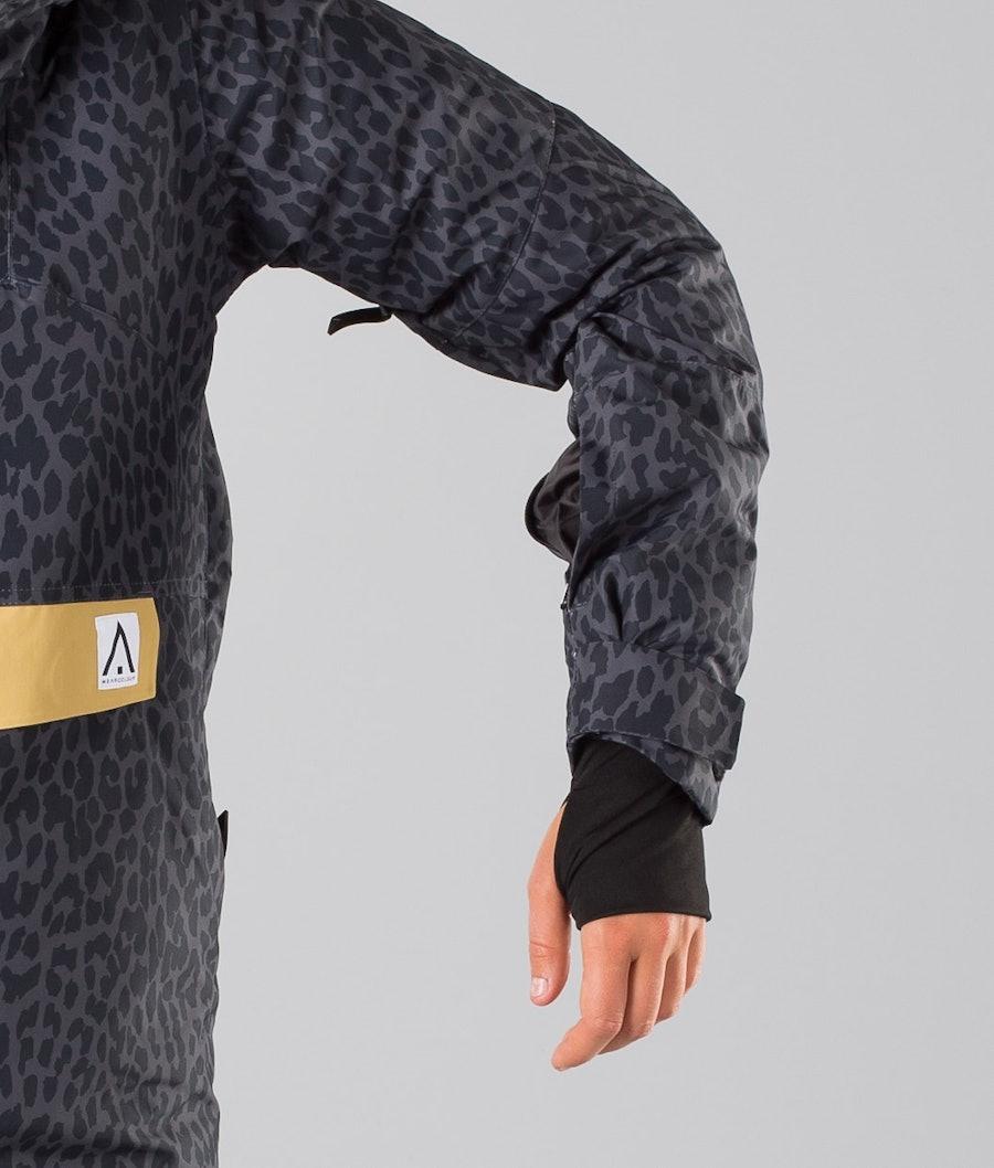WearColour Homage Women's Ski Jacket Black Leo