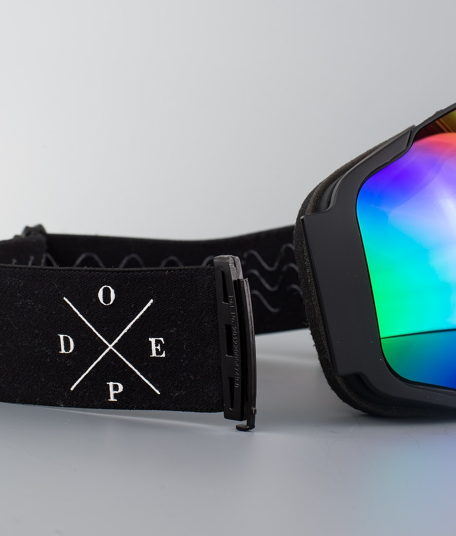 Dope Sphere 2X-UP Skibriller Black W/Black Green Mirror