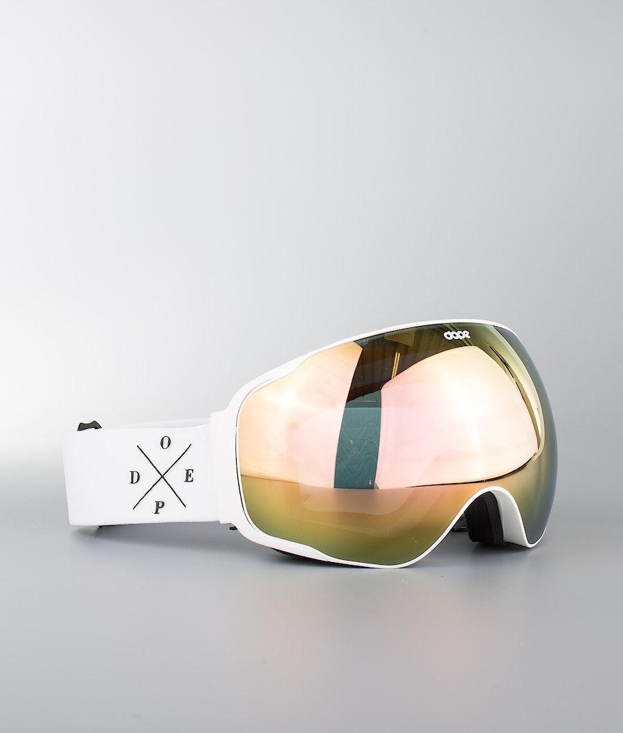 Dope Sphere 2X-UP Ski Goggle White W/White Champange