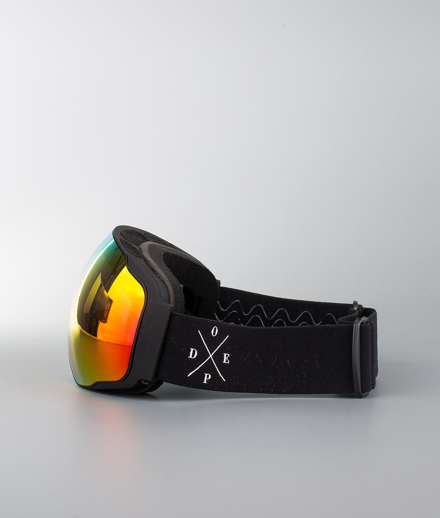 Dope Sphere 2X-UP Ski Goggle Black W/Black Red Mirror