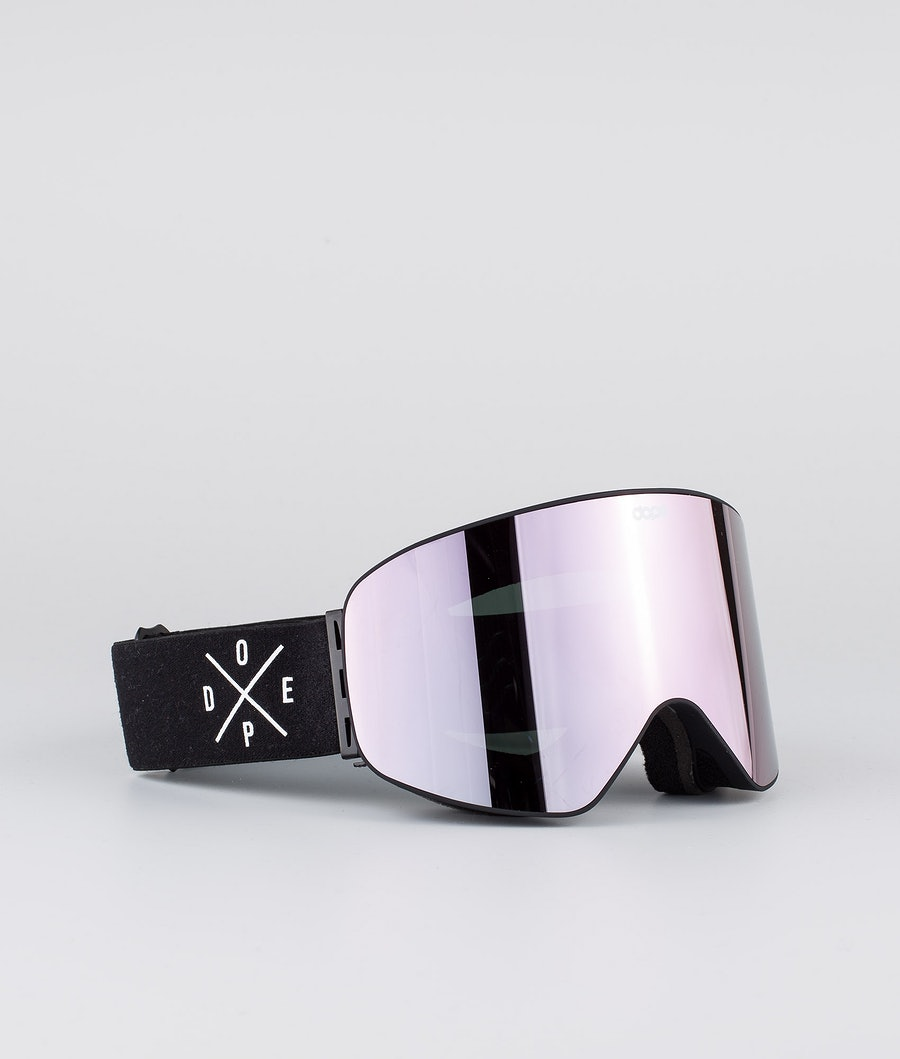 Dope Flush 2X-UP Women's Ski Goggle Black W/Black Champagne