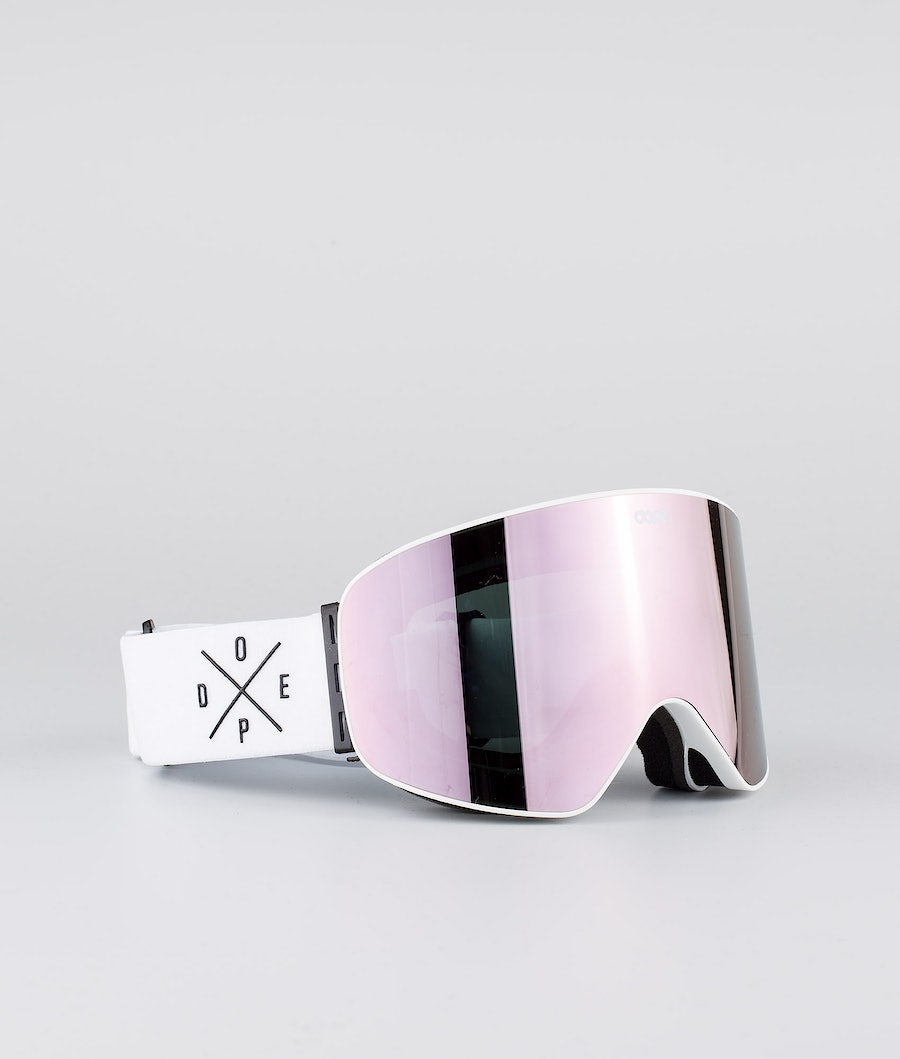 Dope Flush 2X-UP Women's Ski Goggle White W/White Champagne