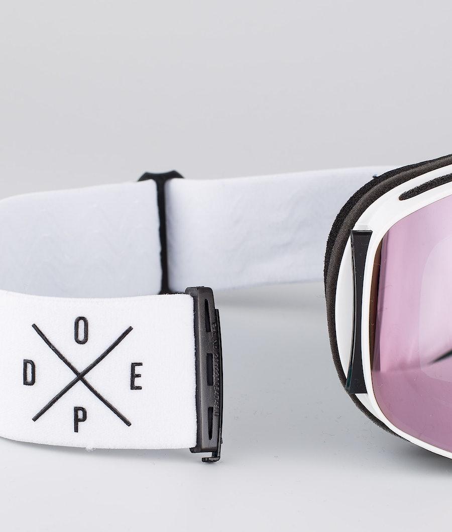 Dope Flush 2X-UP Women's Ski Goggle White W/White Champagne