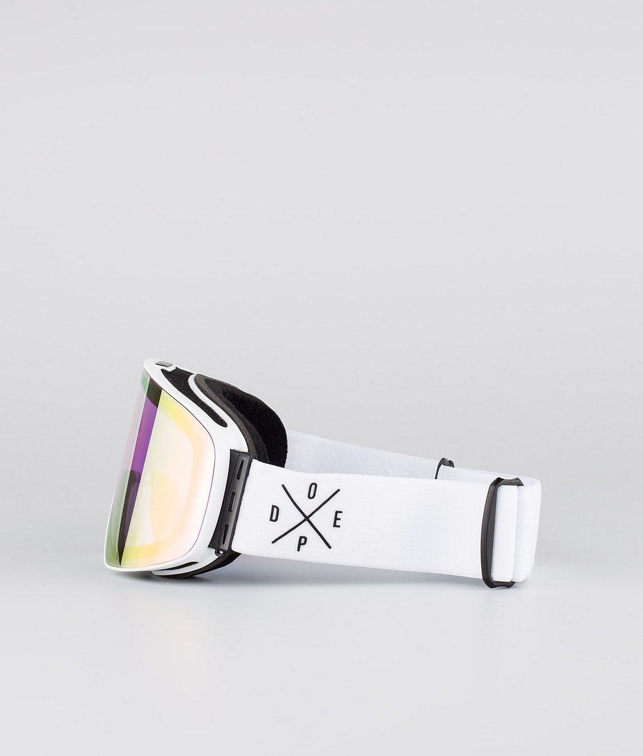 Dope Flush 2X-UP Skidglasögon White W/White Pink Mirror