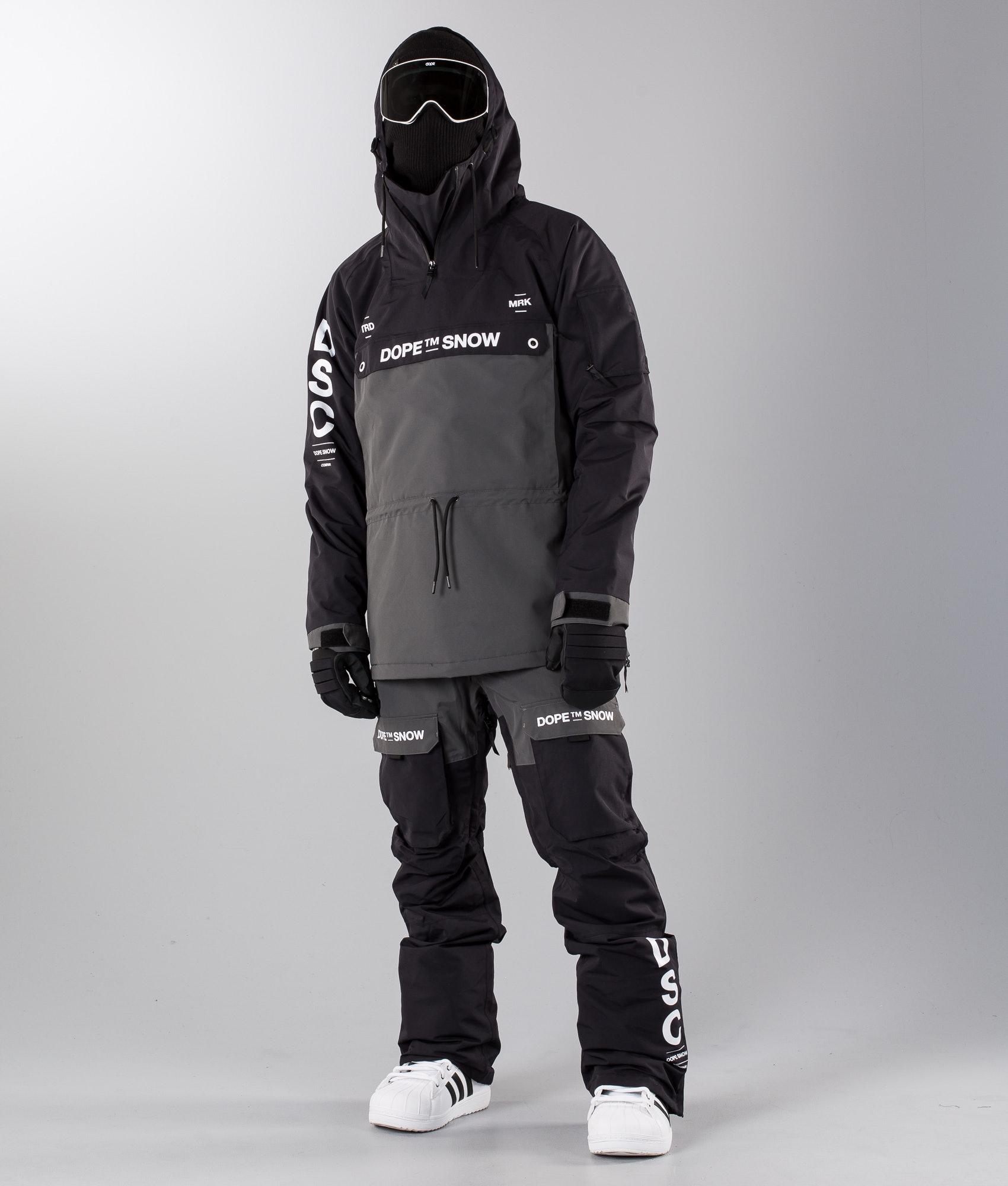 352ce6aa33f Dope Annok DSC Snowboard Jacket Black Dark Grey II - Ridestore.com