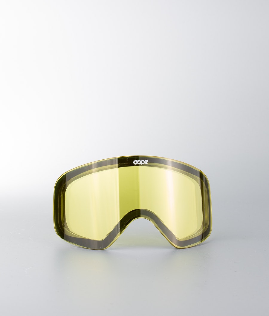 Dope Spare Lens Flush Extralins Snow Yellow