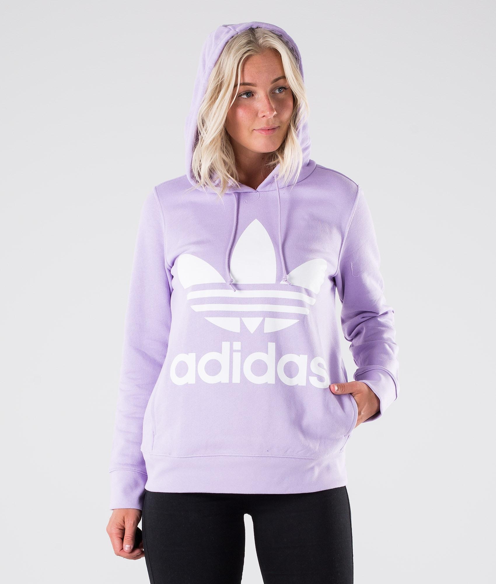 f9c8c4f44151c Adidas Originals Trefoil Hoodie Purple Glow - Ridestore.com