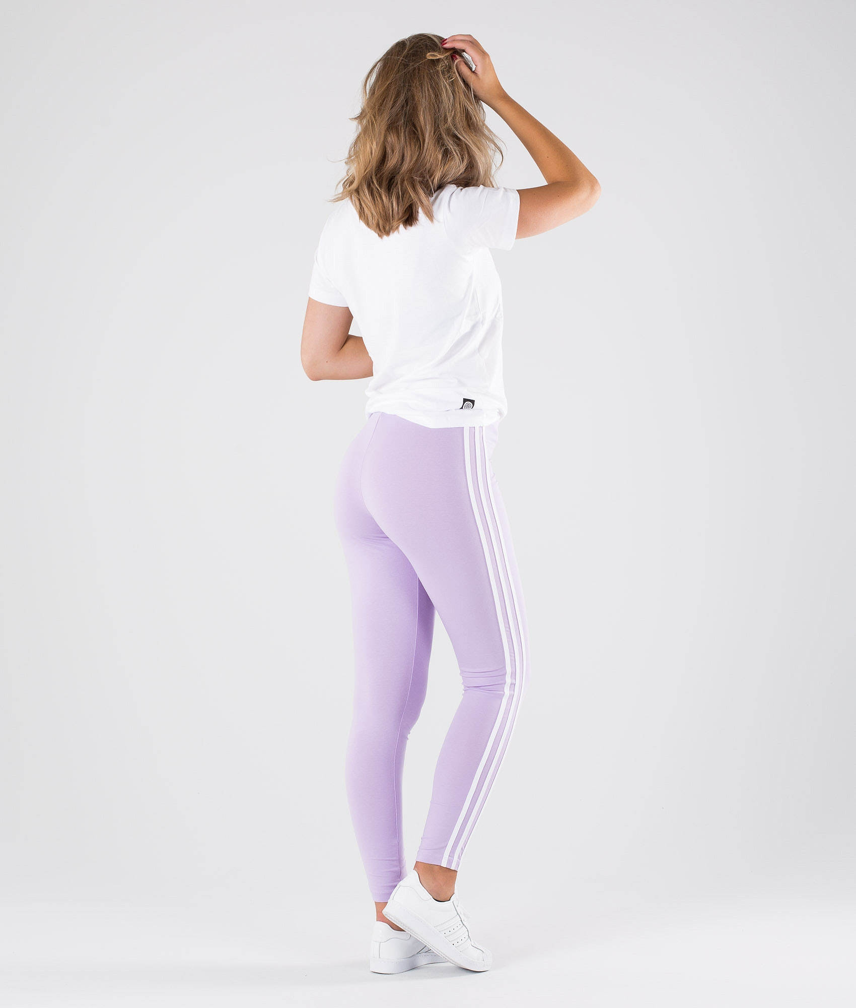 d055e770eaab6 Adidas Originals 3 Stripes Leggings Purple Glow - Ridestore.com