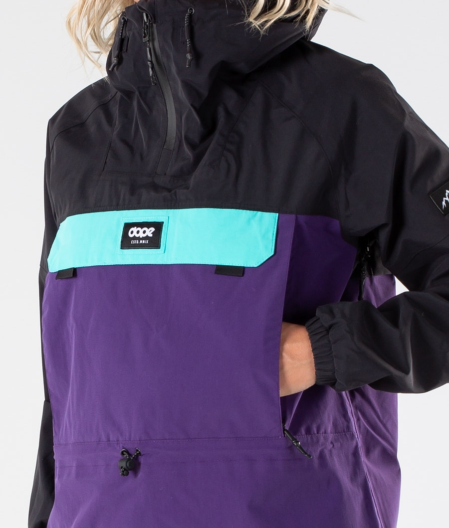Dope Hiker 19 W Outdoor Jacka Dam Black/Purple/Azure