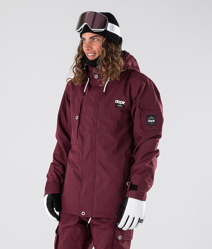 Dope Adept Ski Jacket Burgundy