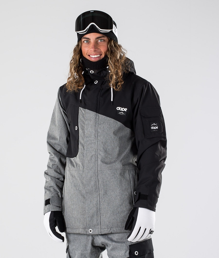 Dope Adept Ski Jacket Black/Grey Melange
