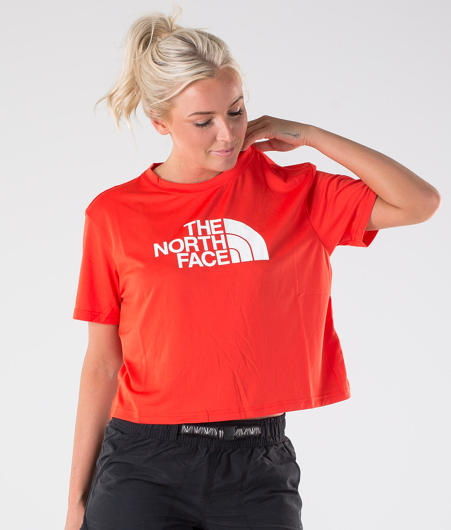 The North Face Train N Logo Crop T-Shirt Juicy Red