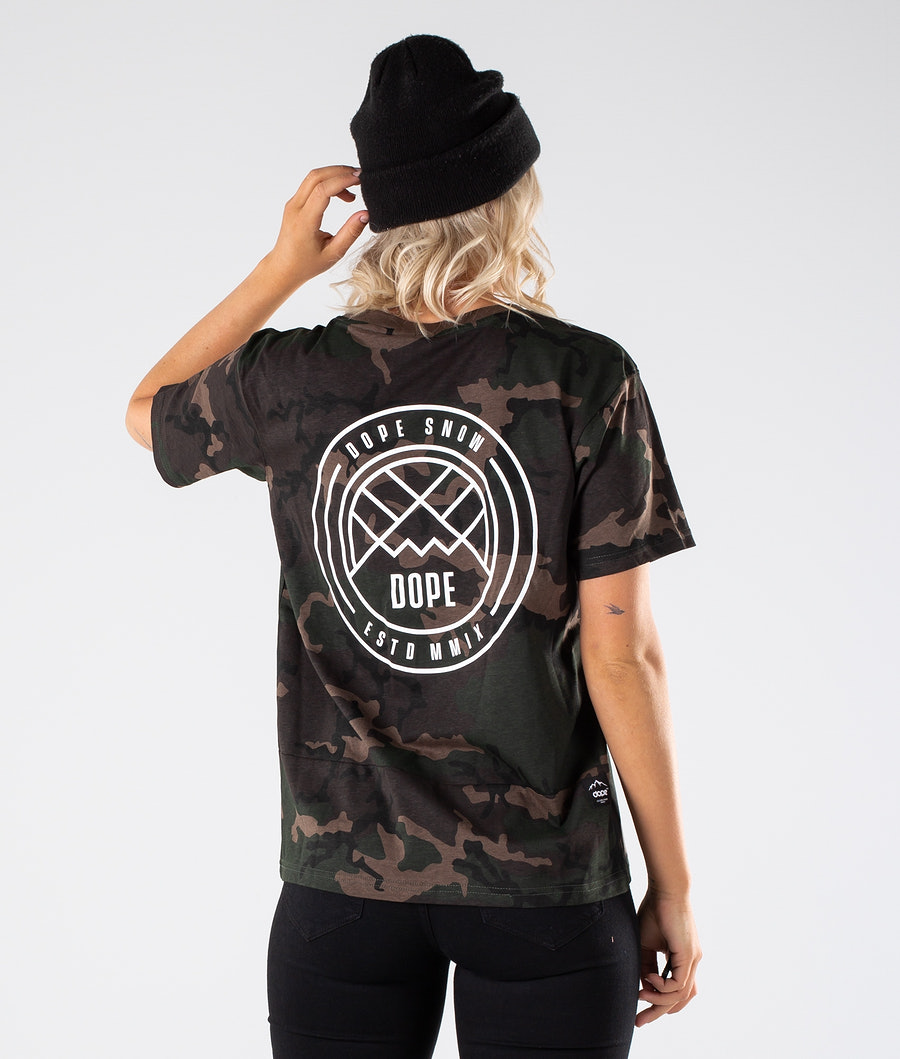 Dope Grand Lines T-shirt Woodcamo