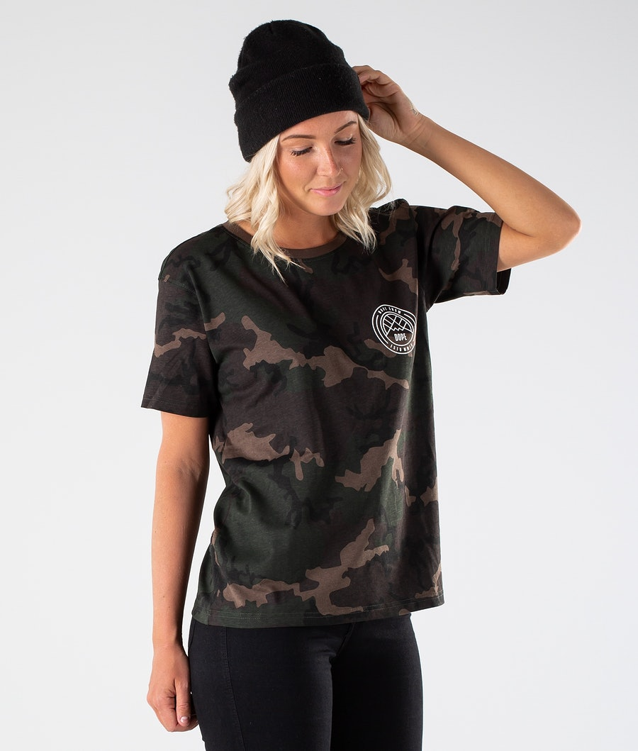 Dope Grand Lines T-shirt Dame Woodcamo
