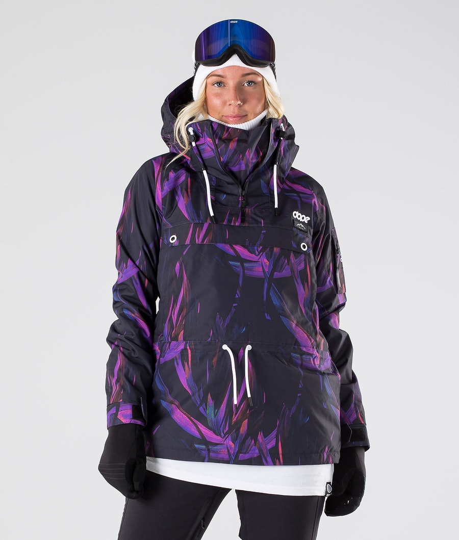 Dope Annok W Ski Jacket Purple Foliage