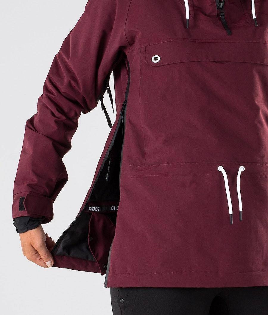 Dope Annok W Women's Ski Jacket Burgundy