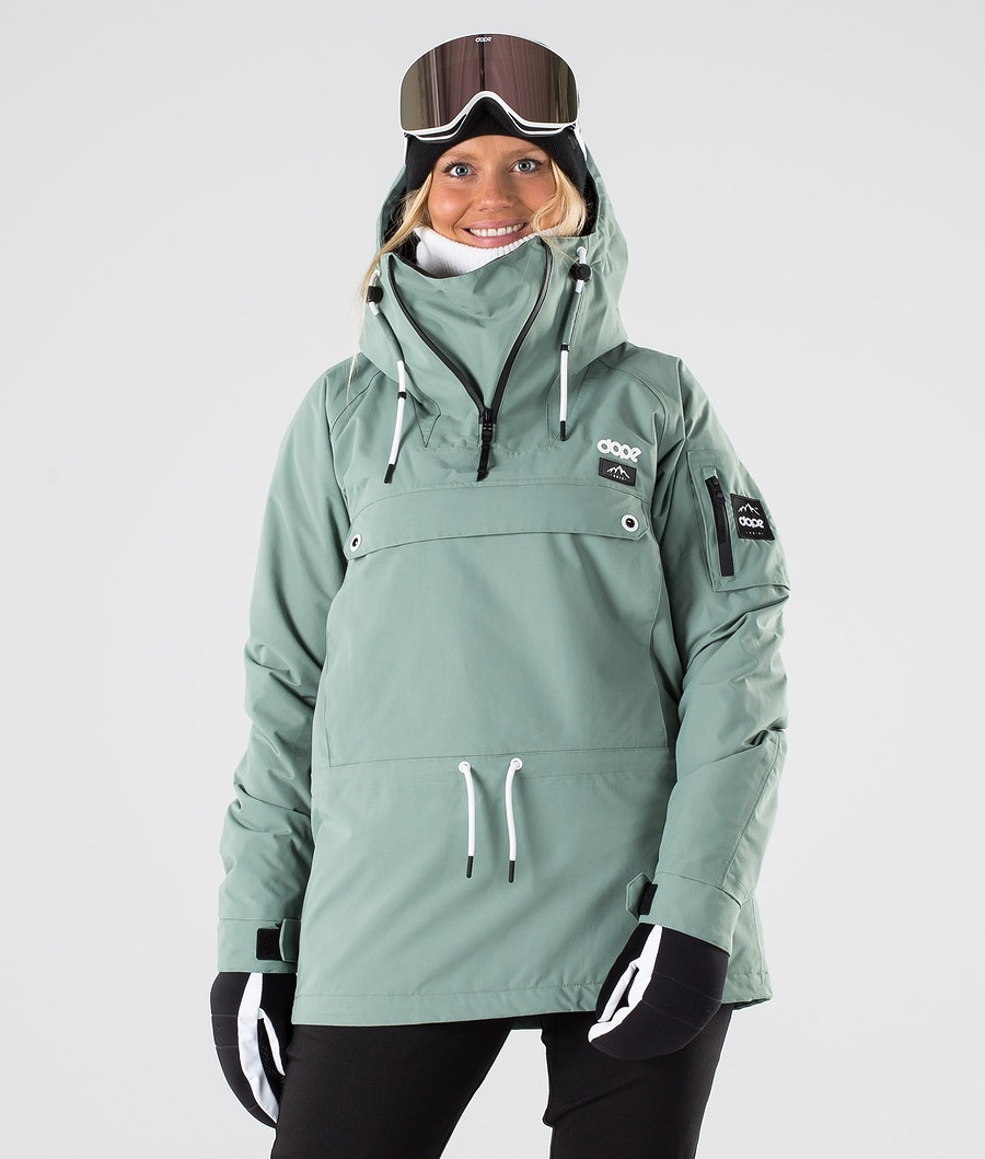 Dope Annok W Skijacke Damen Faded Green