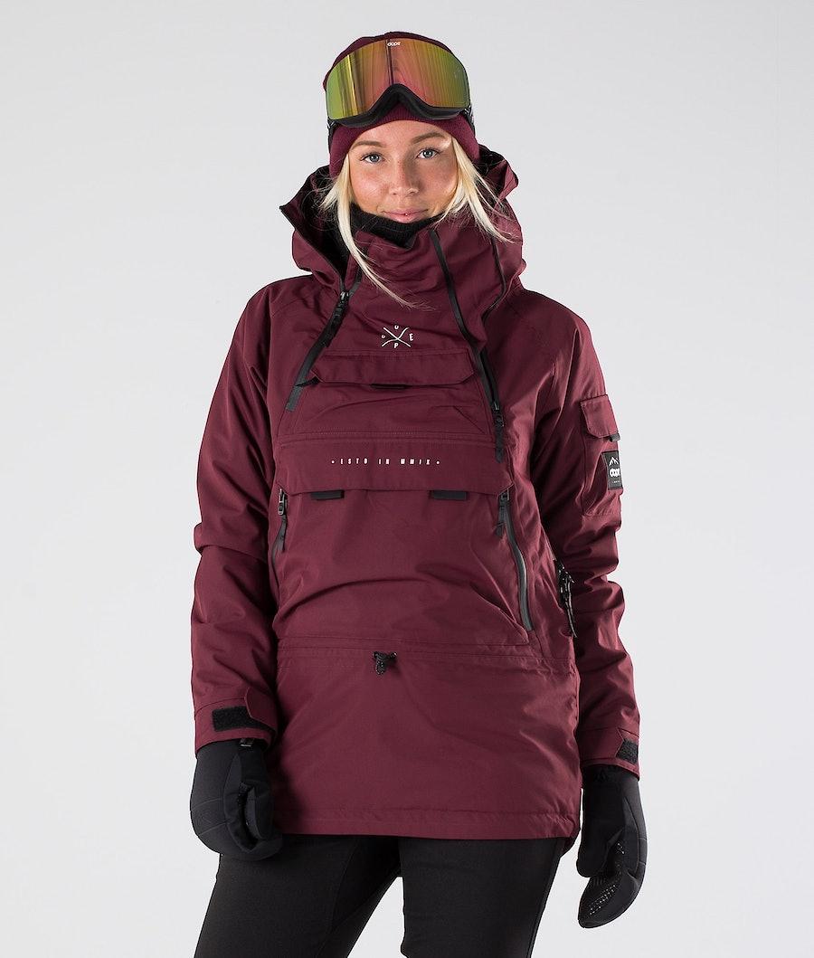 Dope Akin W Ski Jacket Burgundy