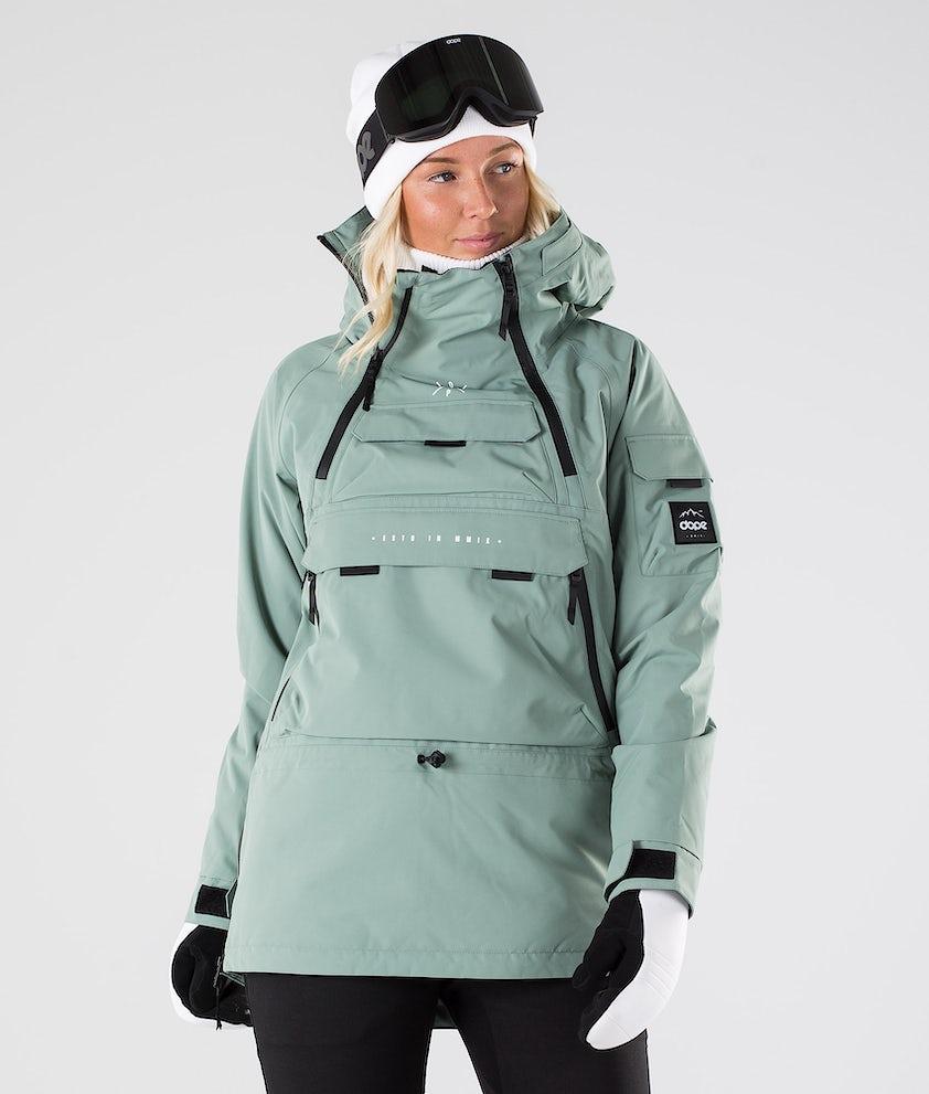 Akin W Snowboard Jacket Women Faded Green