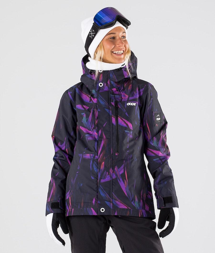 Dope Divine Veste de Ski Femme Purple Foliage