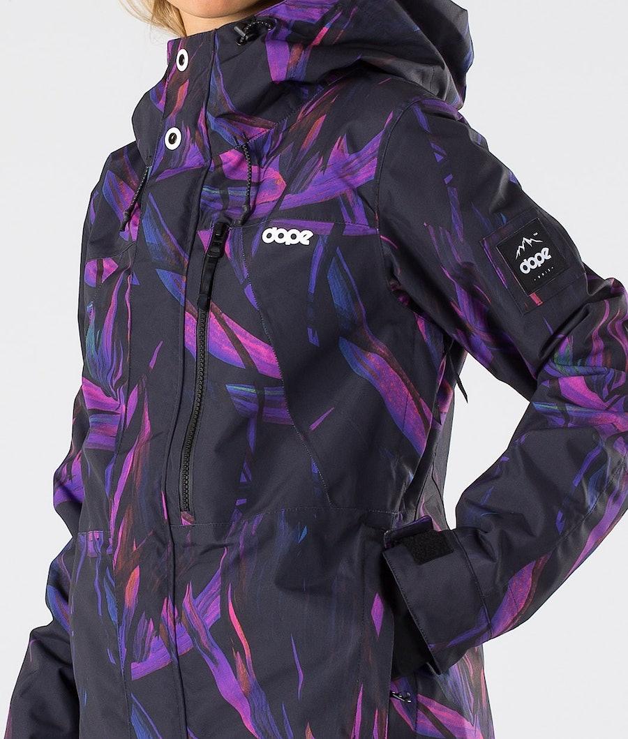 Dope Divine Skijakke Dame Purple Foliage