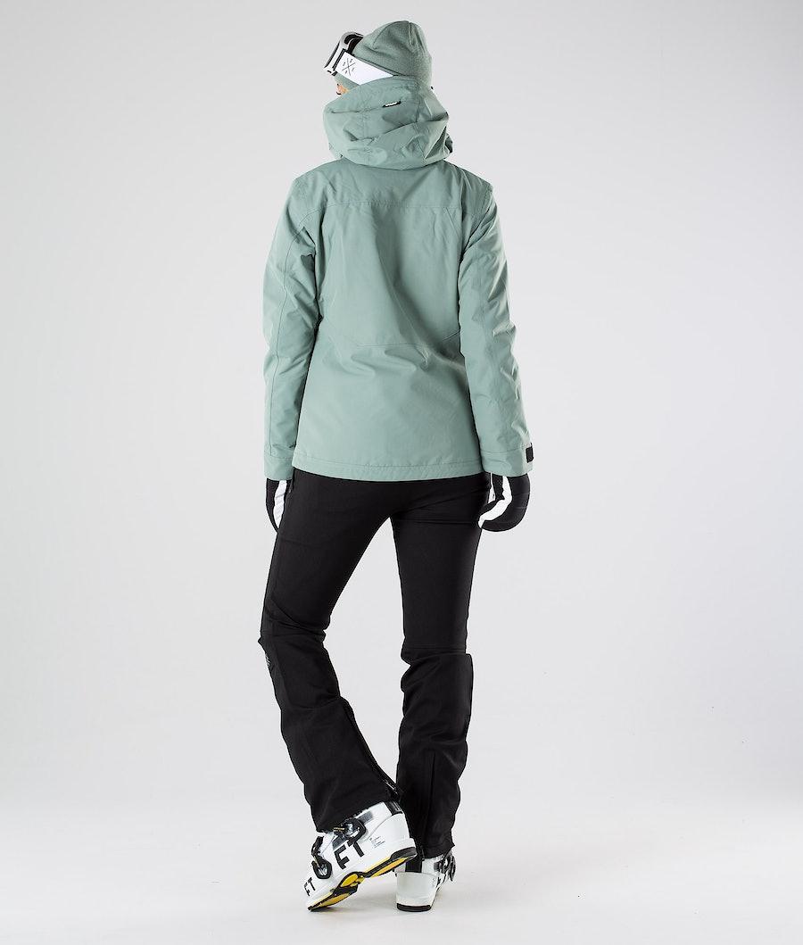 Dope Divine Skijakke Dame Faded Green