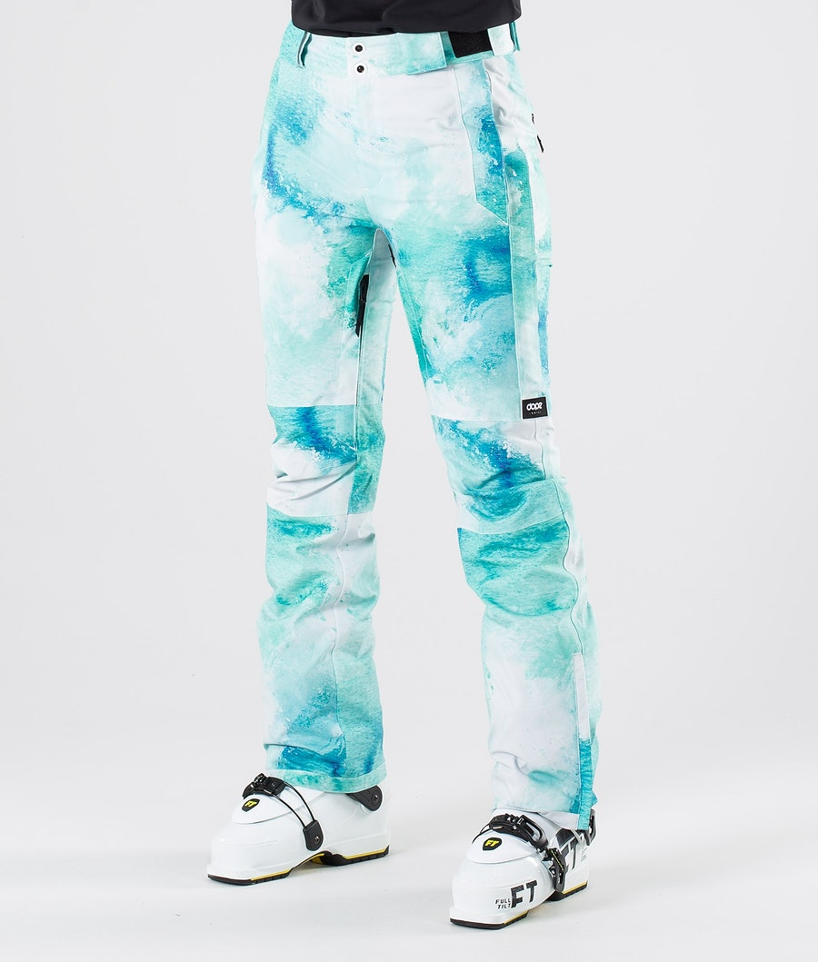 Dope Con Ski Pants Water White