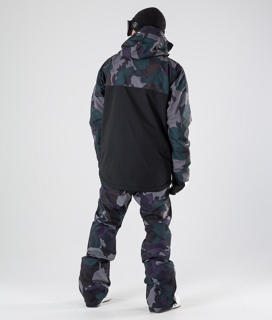 Dope Akin Snowboard Jacket Grape Green Camo