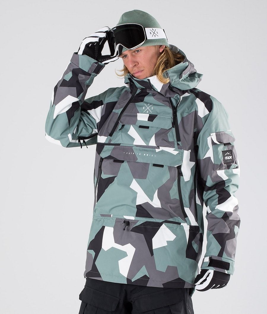 Dope Akin Skijacke Faded Green Camo