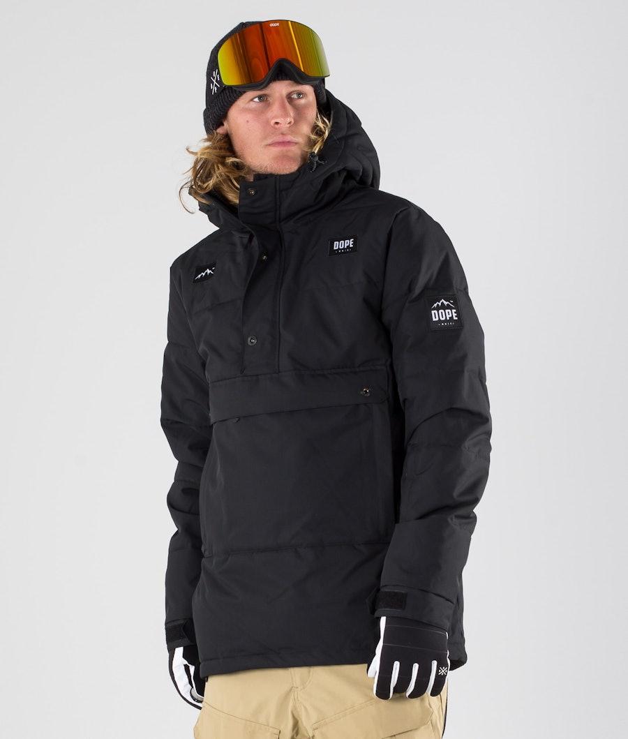 Dope Puffer Ski Jacket Black