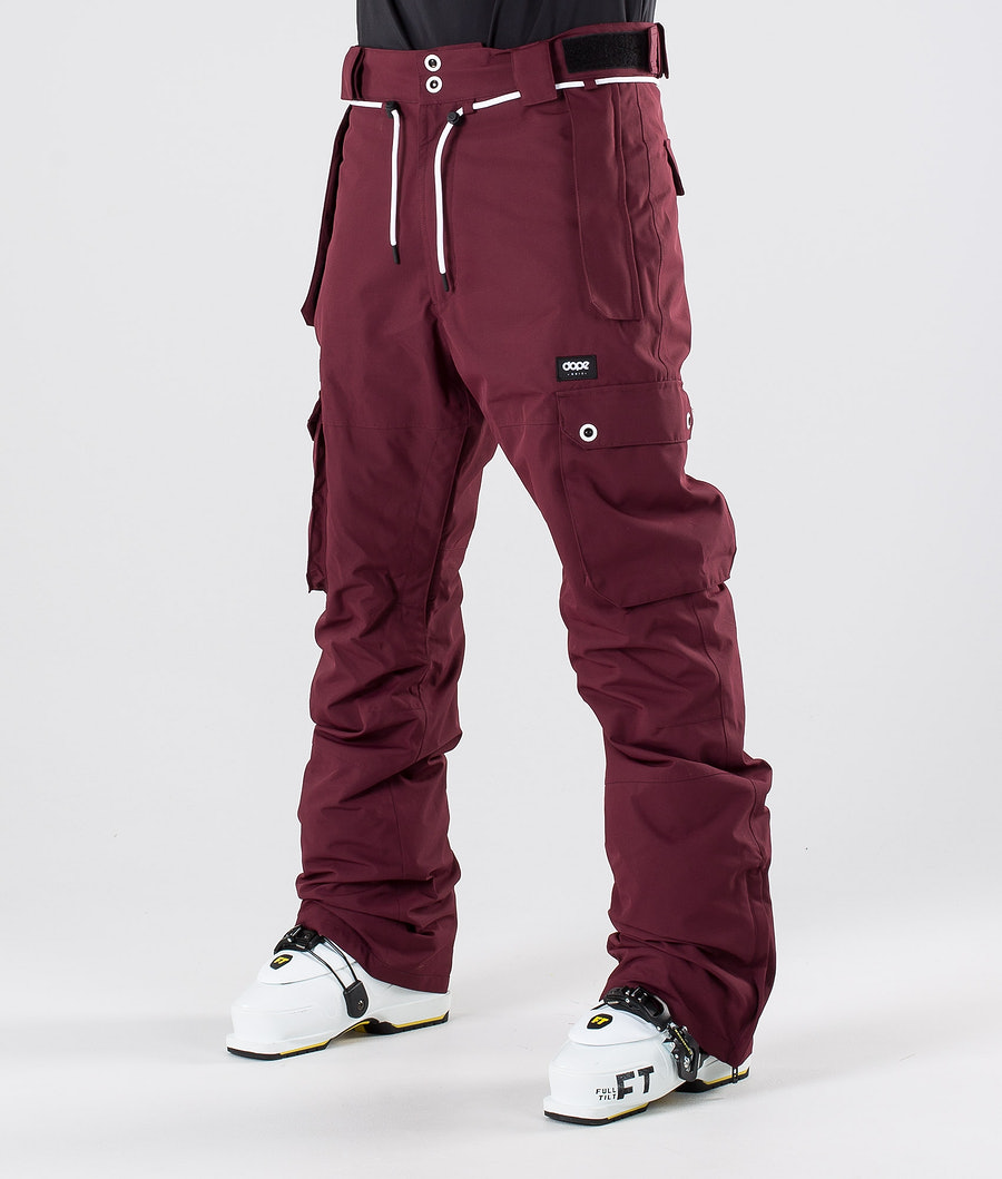 Dope Iconic Ski Pants Burgundy