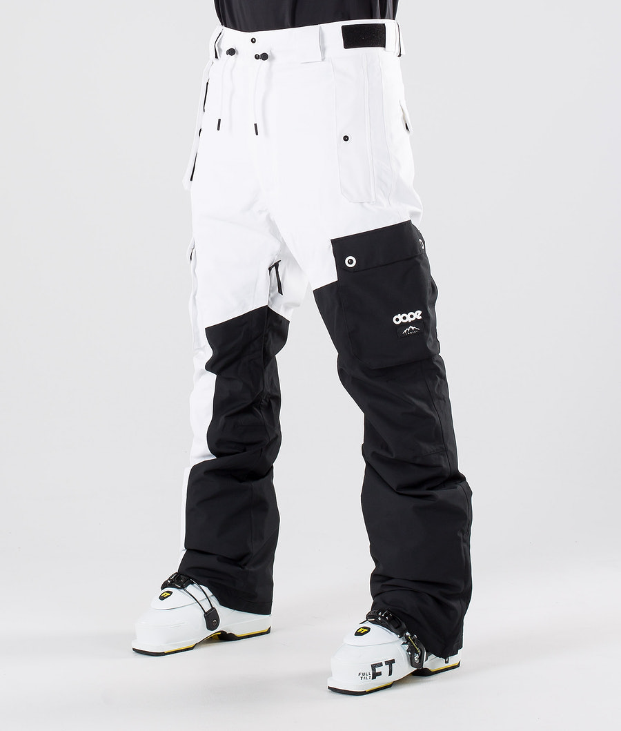 Dope Adept Ski Pants Black/White