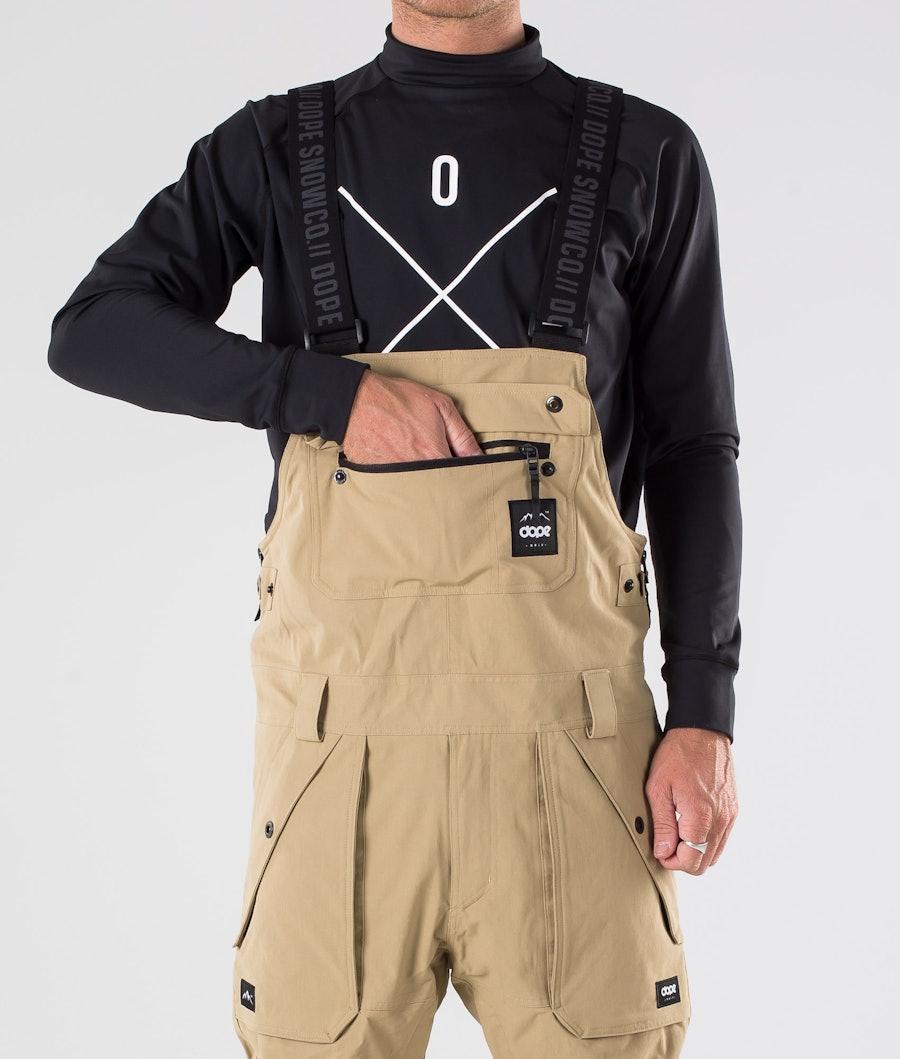Dope Notorious BIB Ski Pants Khaki