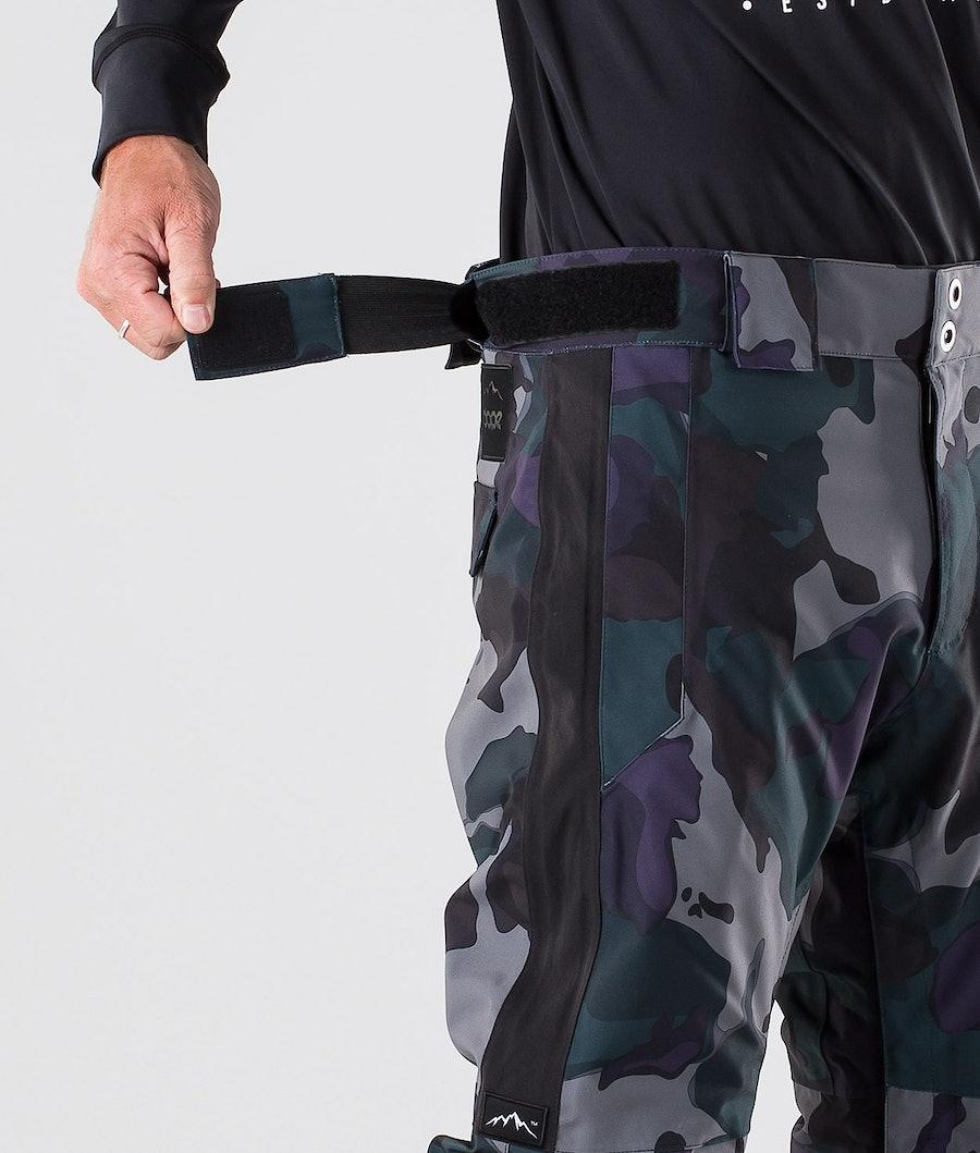 Dope Hoax II Ski Pants Grape Green Camo