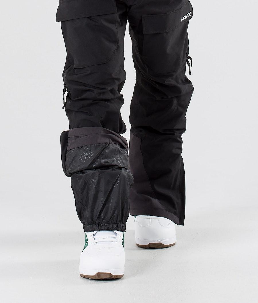 Montec Fawk Pantaloni da snowboard Black