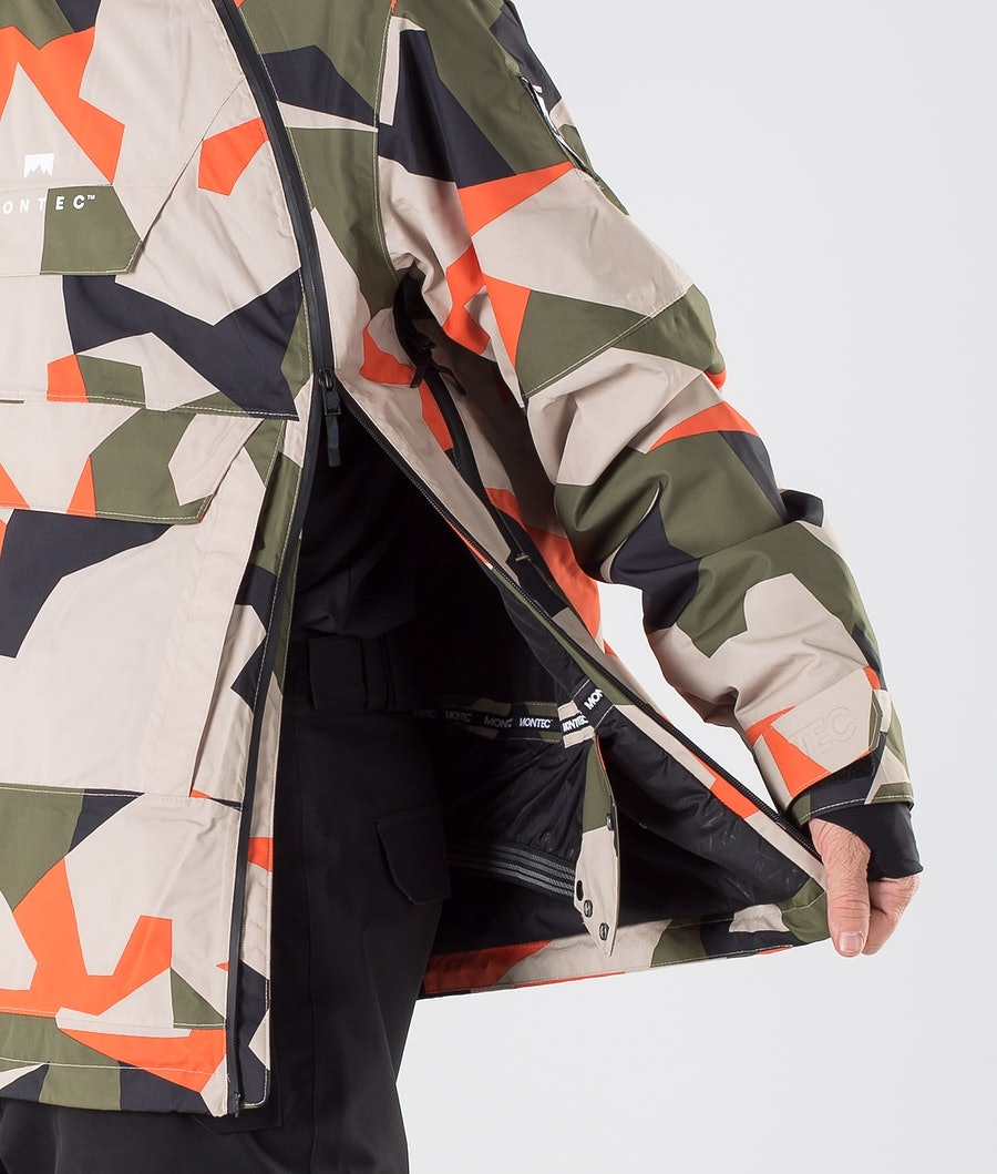 Montec Doom Skidjacka Orange Green Camo