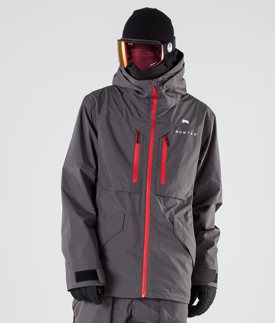Montec Fenix Ski Jacket Pearl Fire/Red