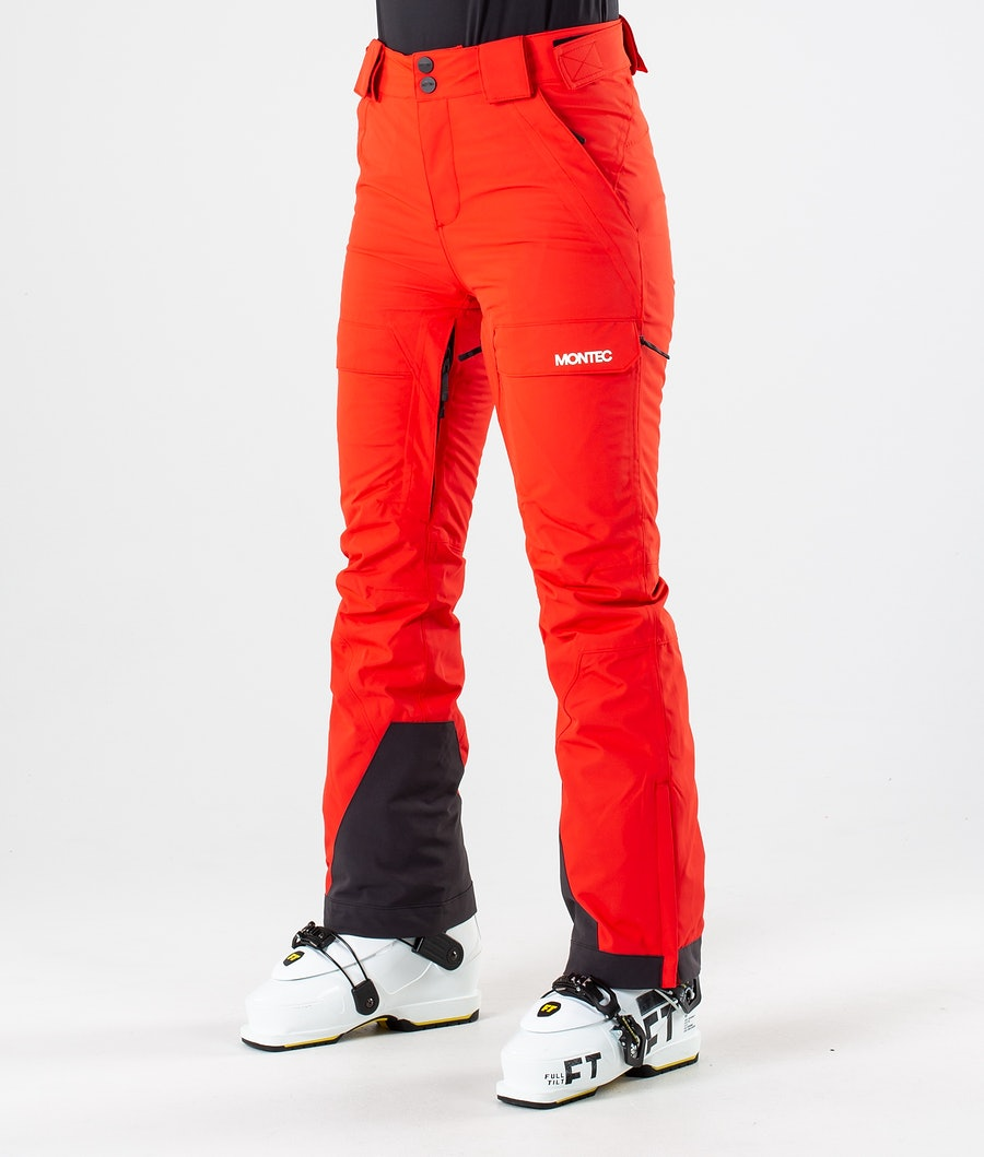 Montec Dune W Women's Ski Pants Red