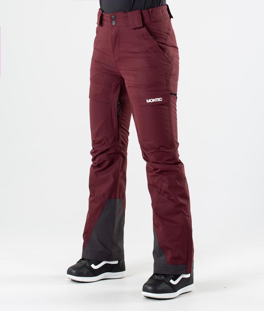 Dune W Snowboard Pants Women Burgundy