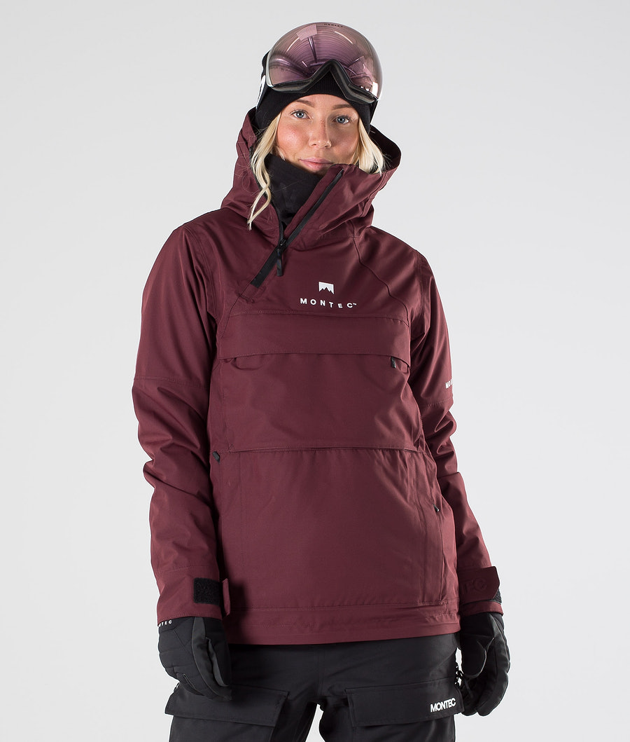 Montec Dune W Ski Jacket Burgundy