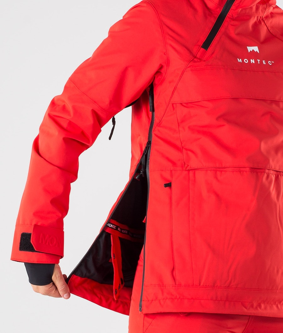 Montec Dune W Women's Ski Jacket Red