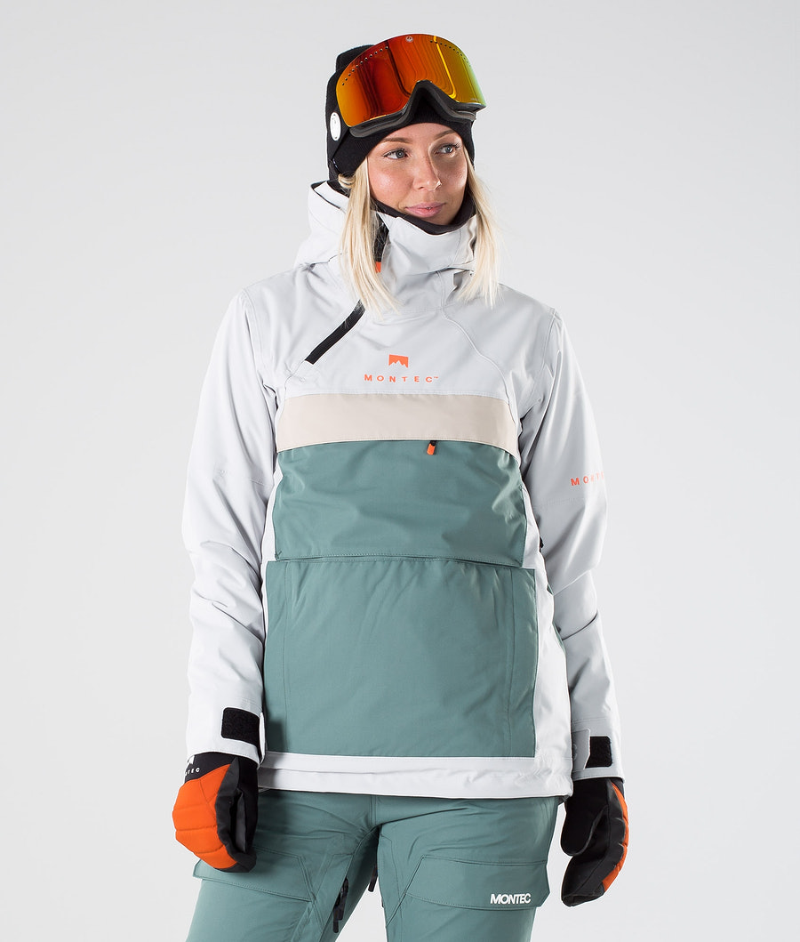 Montec Dune W Veste de Ski Light Grey Atlantic Desert