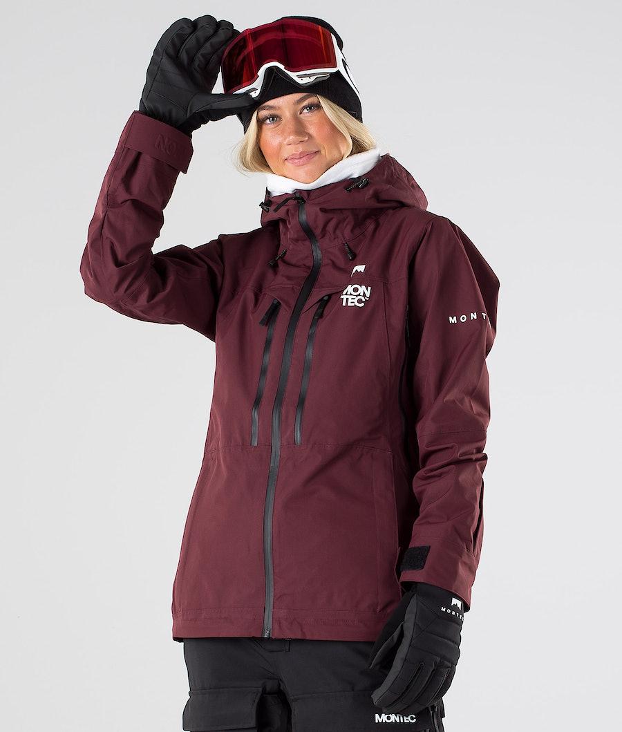 Montec Moss Ski Jacket Burgundy