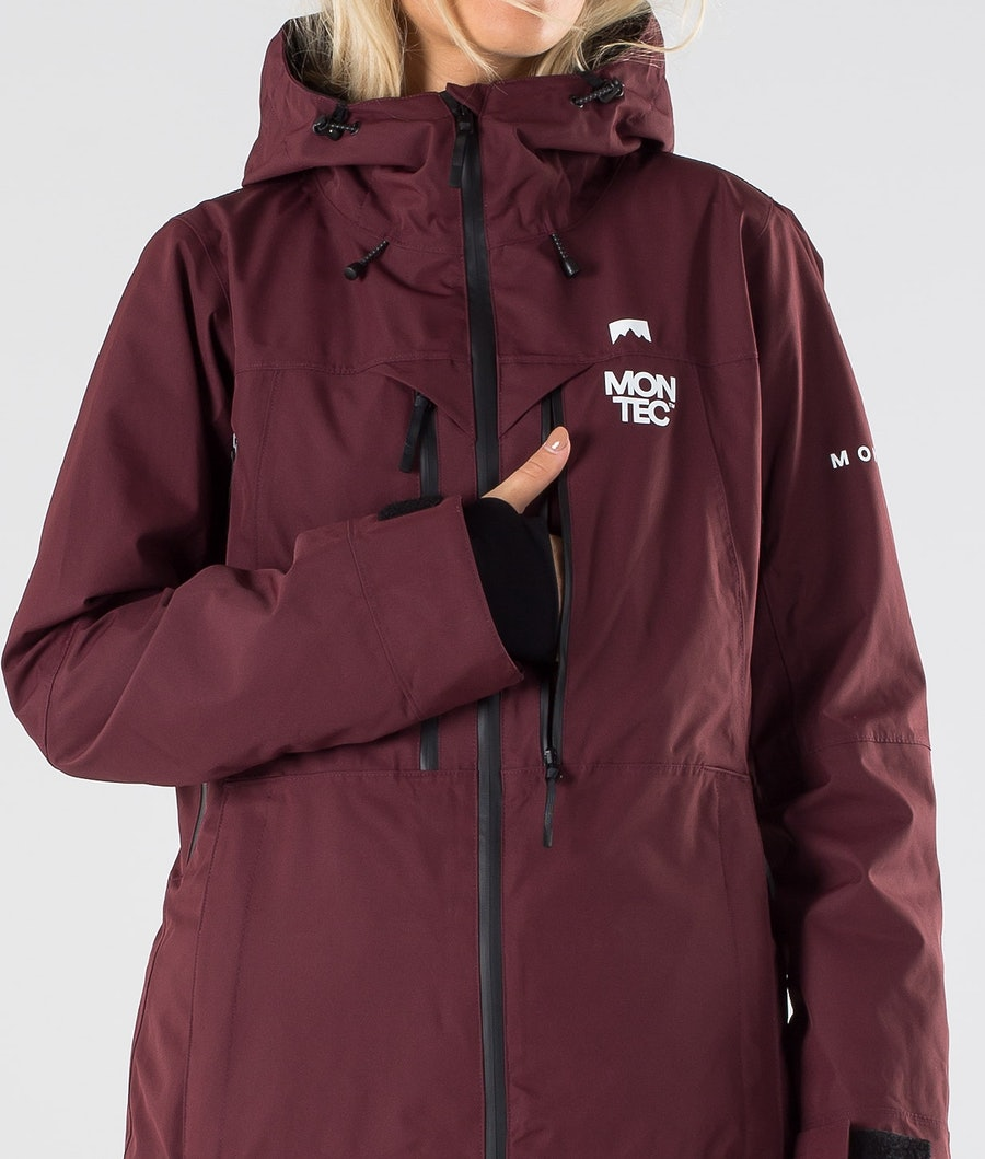 Montec Moss Veste de Ski Femme Burgundy