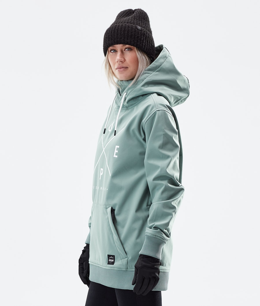 Dope Yeti W Women's Winter Jacket Faded Green