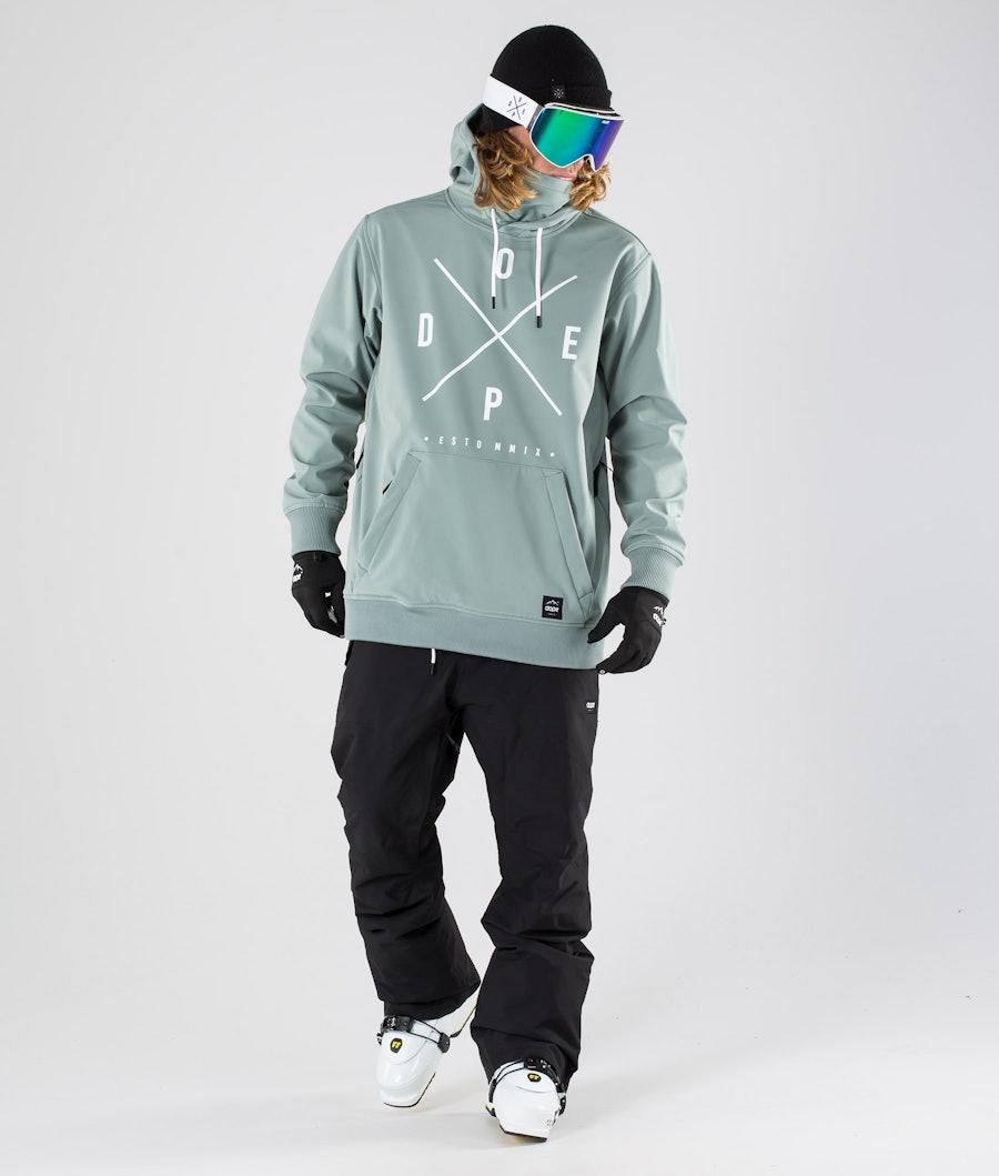 Dope Yeti Skijacke Faded Green