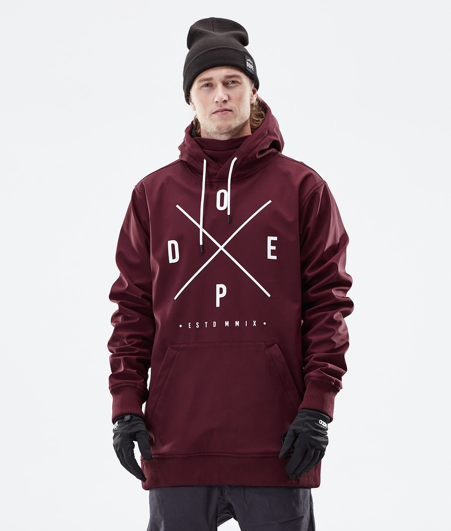 Dope Yeti Winter Jacket Burgundy