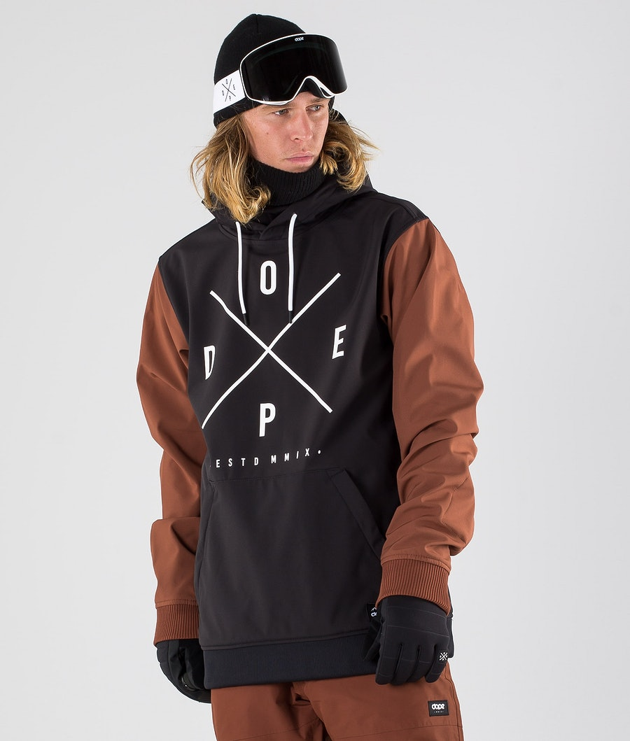 Dope Yeti Ski Jacket Black/Adobe