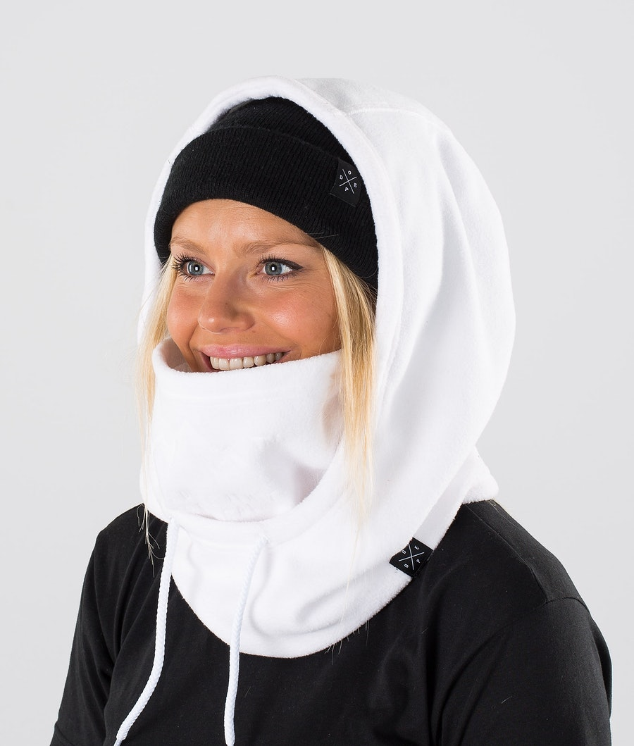Dope Cozy Hood Masque White