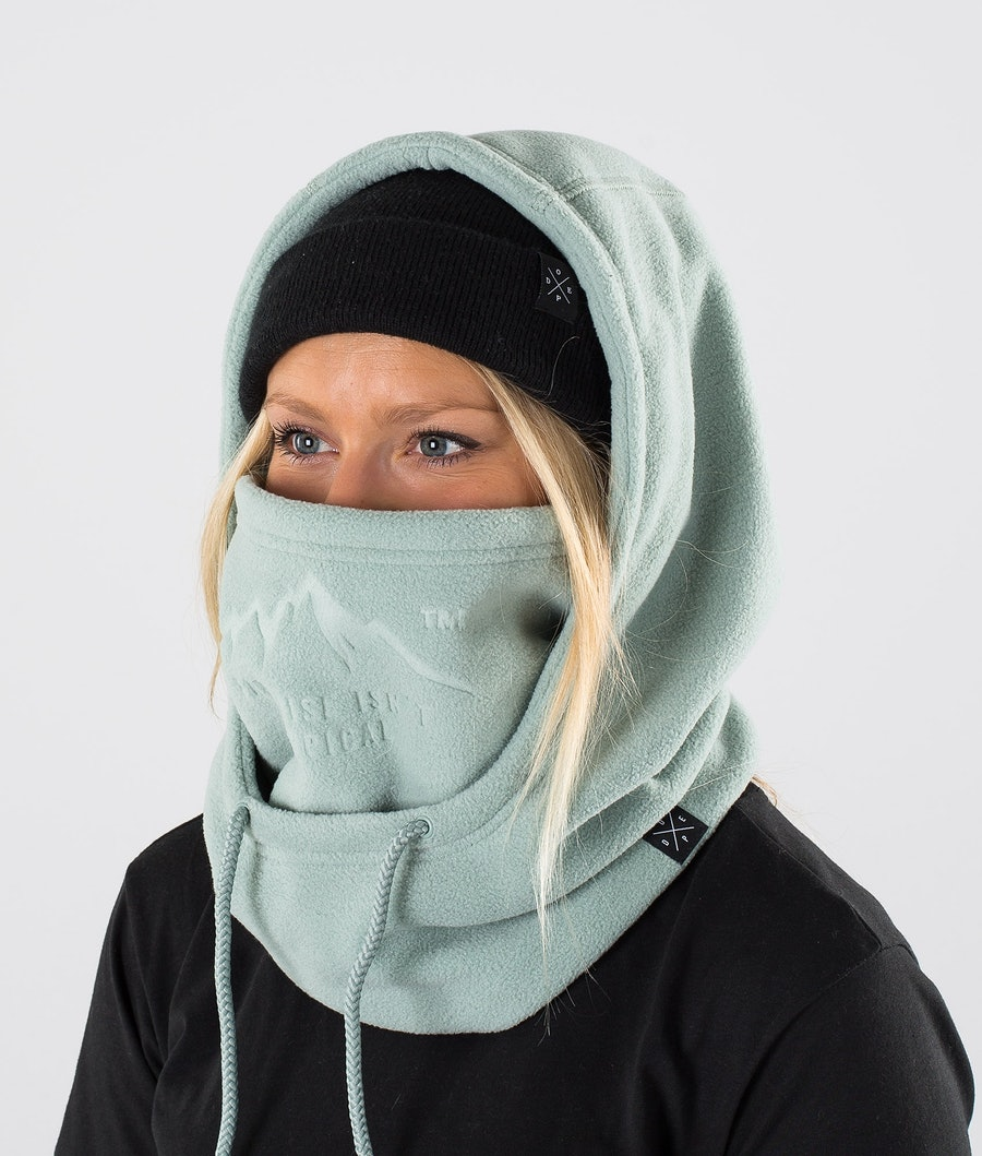 Dope Cozy Hood Women's Facemask Faded Green